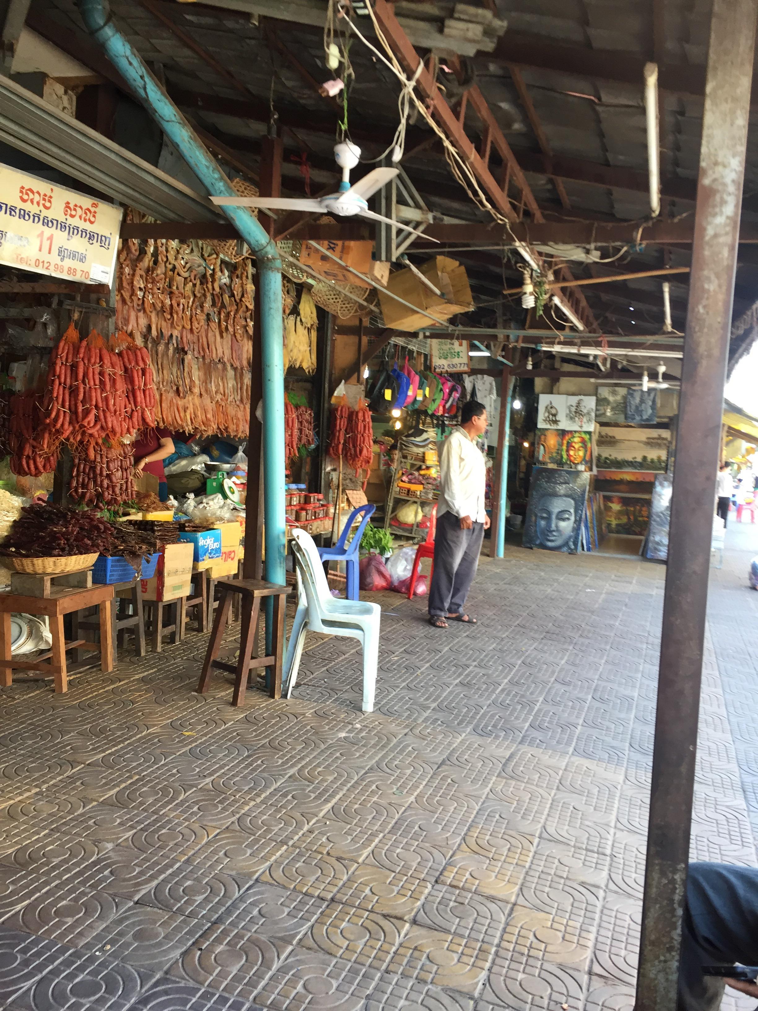カンボジア アンコールワット マーケット